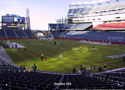 2 TICKETS NEW YORK JETS AT NEW ENGLAND PATRIOTS 12312017 - LOWERS