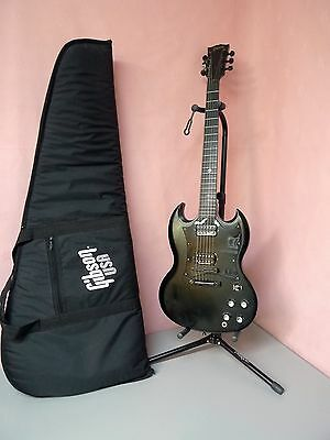 Gibson Gothic SG Electric Guitar 2001 USA Black with Padded Soft Case