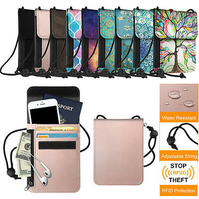 Fintie Passport Holder Neck Pouch RFID Blocking Premium PU Leather Travel Wallet