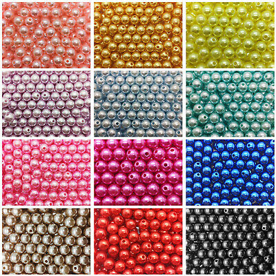 Pearl Round Spacer Loose Plastic Beads Wholesale 4mm  6mm  8mm 10mm