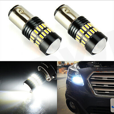 2X 1157 High Power Xenon White 48-SMD LED Front Turn Signal Light Bulbs Lamp