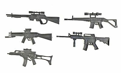 FIG-WP-5X FIGLot 112 Scale Rifle Guns 5 Pack for 6 Marvel Deadpool Punisher
