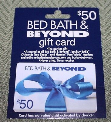 Bed Bath and Beyond  Gift Card  50 Value