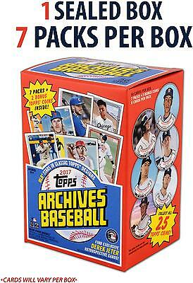 2017 Topps Archives Baseball Factory Sealed 7 Pack Box