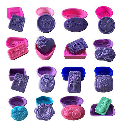 DIY Silicone Ice Cube Candy Chocolate Cake Cookie Cupcake Soap Molds Mould Tools
