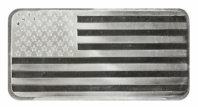 10oz Silver Flag Bar -999 - Sealed Plastic
