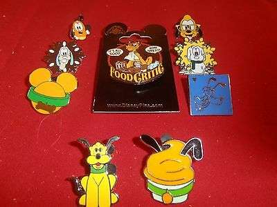 9 Disney  pins  Mickeys Dog Pluto 1 is 3D New on Card-     As Shown- lot D