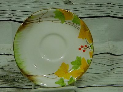 Royal Grafton Bone China Made in England SAUCER ONLY Leaves Yellow Green