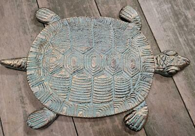 Cast Iron Antique Style Nautical TURTLE Stepping Stone Garden Step Pond Pool