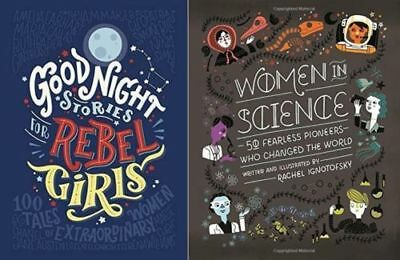 Good Night Stories for Rebel Girls - Women In Science 2 Book Set Hardcover