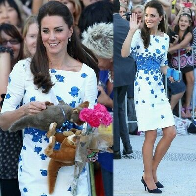 Kate Middleton Style of Dress In The Summer of 2018 Half sleeve Sexy Dress