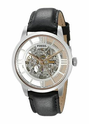 Fossil Mens Townsman Automatic Leather Watch - Black ME3041