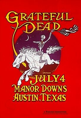 Grateful Dead - Manor Downs  Austin TX from July 4 1981  - Poster 13x19 - Nice