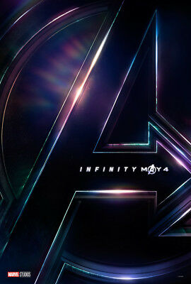 AVENGERS INFINITY WAR Original DS 27x40 Movie Poster TEASER VERSION Marvel NEW