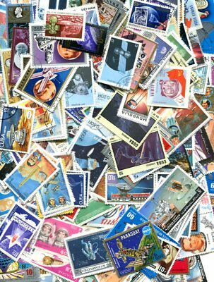 SPACE EXPLORATION ON 500 DIFFERENT STAMPS - NO DUPLICATES - NO DAMAGED OR HINGED