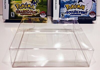1 Box Protector for Pokemon Heartgold  Soulsilver case  Nintendo DS  NTSC ONLY