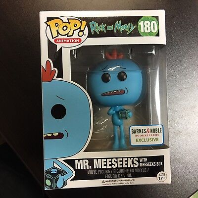 Funko POP Rick and Morty Mr Meeseeks with Box Barnes - Noble Exclusive MINT
