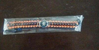 Detroit Tigers Paracord bracelet with Team Logo Charm-Buy 2 Get 1 Free