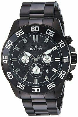 Invicta 24735 Pro Diver Mens 48mm Chronograph Black Stainless Steel Black Dial