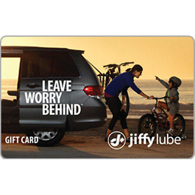 Jiffy Lube Gift Card 100 Value Only 80-50 Free Shipping