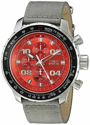 Invicta 18780 Aviator Mens 50mm Chronograph Stainless Steel Red Dial Watch
