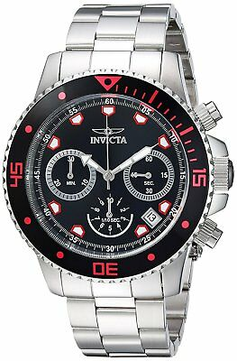 Invicta 21885 Pro Diver Mens 45mm Chronograph Stainless Steel Black Dial Watch