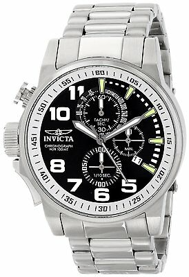 Invicta 14955 I-Force Mens 46mm Stainless Steel Black Dial Watch