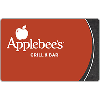 Applebees Gift Card 50 Value Only 42-00 Free Shipping