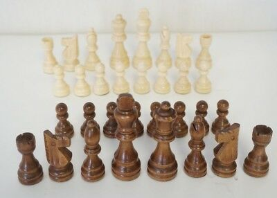 New Wooden Chess Set 32 Pieces - King 7-8 cm Pieces Only Total Weight 160 g