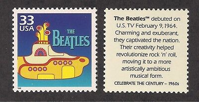 THE BEATLES - YELLOW SUBMARINE - U-S- POSTAGE STAMP - MINT CONDITION