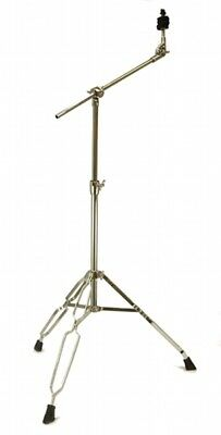 CYMBAL BOOM STAND 5 feet DOUBLE BRACED Chrome Percussion Dums Tripod NEW