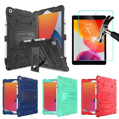 For iPad 8th Generation10-2 2020 Case Cover With Kickstand-Screen Protector
