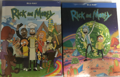 Rick and - Morty Complete TV Series Seasons 1 - 2 Boxed  Blu-Ray Sets Sealed