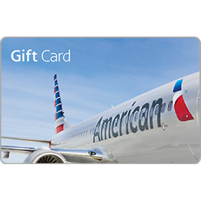 American Airlines Gift Card 100 Value Only 94-15 Free Shipping
