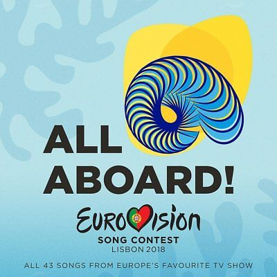EUROVISION SONG CONTEST LISBON 2018 - ALL ABOARD  2 CD NEW-