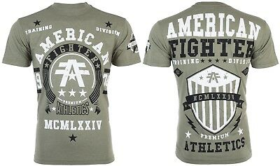 AMERICAN FIGHTER Mens T-Shirt DALTON Athletic MILITARY GREEN Biker Gym UFC 40