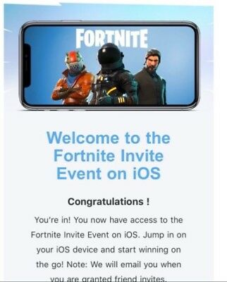 Fortnite Mobile iOS Friend Code INSTANT DELIVERY