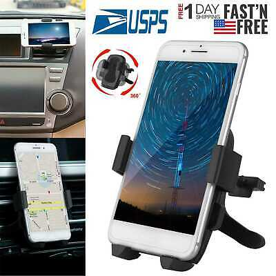 Universal 360°Rotation Car Air Vent Mount Cradle Holder Stand for Cell Phone-GPS