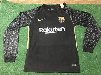 New Nike FC Barcelona Long Sleeve Goalkeeper Jersey  20172018 Mens Soccer REP