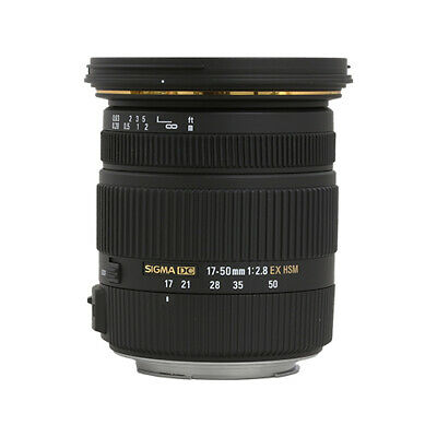 Sigma 17-50mm f2-8 EX DC OS HSM Zoom Lens for Canon - Nikon with APS-C Sensors