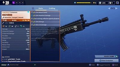 Fortnite Save The World pve nocturno power level 82 ps4 only