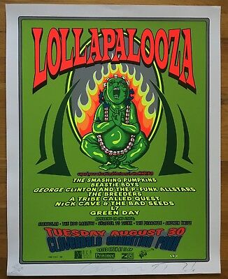 1994 LOLLAPALOOZA Poster Beastie Boys Smashing Pumpkins Signed 80400 RARE