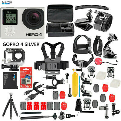 GoPro HERO4 Silver Edition -50 Piece Hero 4 Accessory Kit Camera Camcorder