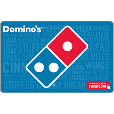 Dominos Pizza Gift Card 20 Value Only 17-00 Free Shipping