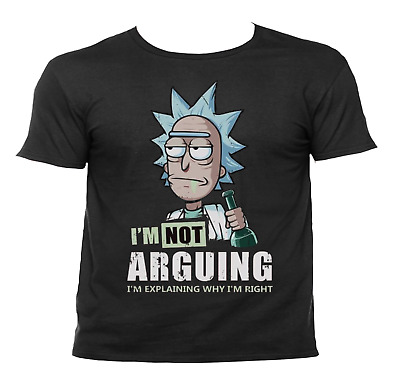 Not Aruging Rick and Morty T-Shirt Tee S-3X