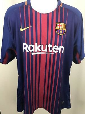 20172018 FCB Barcelona Soccer Home Jersey Football Shirt Nike Sz XXXL 3XL- C1