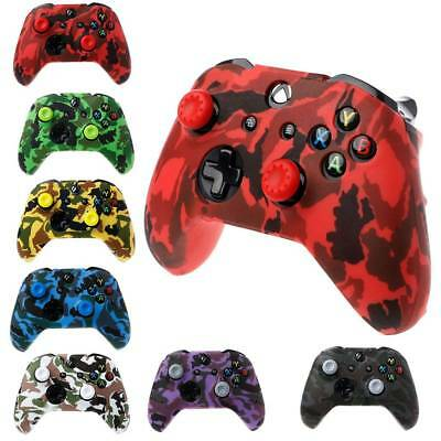 Silicone Gamepad Camouflage Cover - 2 Joystick Caps For XBox One X S Controller