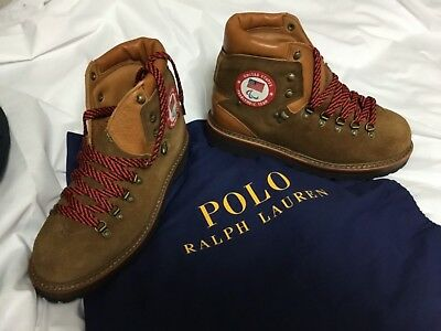 2018 PyeongChang Paralympic USA Team Opening Ceremony Leather Boots - Men's 9