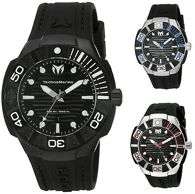 Technomarine Reef Mens 45mm Stainless Steel Black 500M Watch - Choice of Color