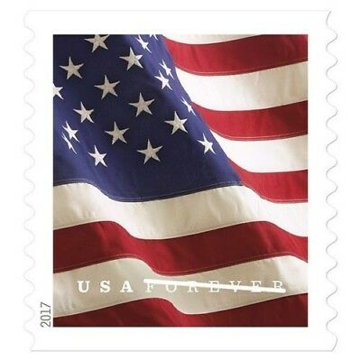 200 Stamps US Flag 2017 FIRST CLASS RATE - USPS Postal Stamps FOREVER 100Roll